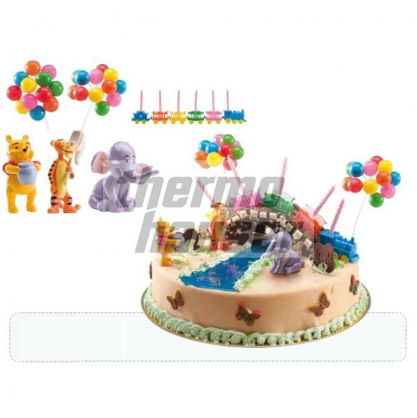 Tortenfiguren-Set Winnie Puuh & Freunde (mit Deko)