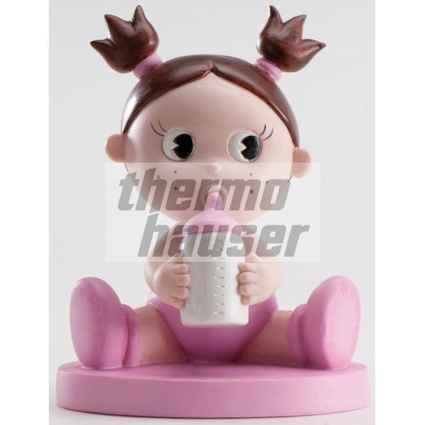 Tortenfigur Baby-Girl mit Flasche