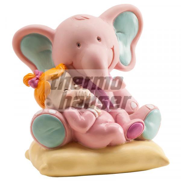 Tortenfigur Elefant mit Baby-Girl
