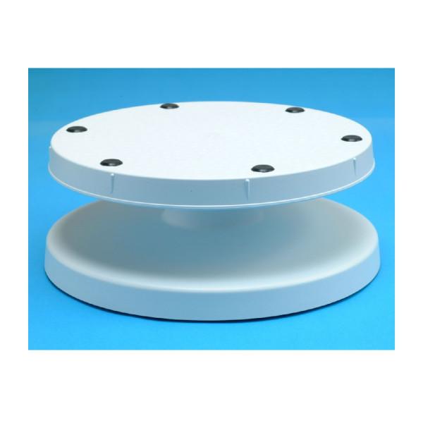 Tortenplatten Kunststoff, weiß, variabel einstellbar