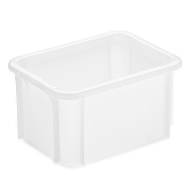Stapelbehälter 39,5 x 29,5 cm, weiß
