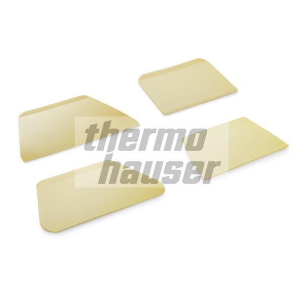 Teigschaber / Teigabstecher mit Griffleiste, ELFENBEIN, Kunststoff