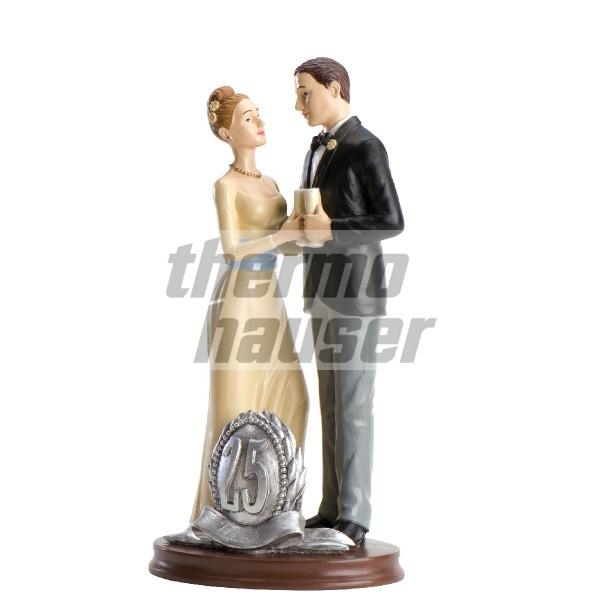 Tortenfigur Silberne Hochzeit