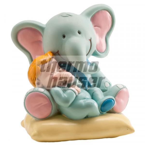 Tortenfigur Elefant mit Baby-Boy