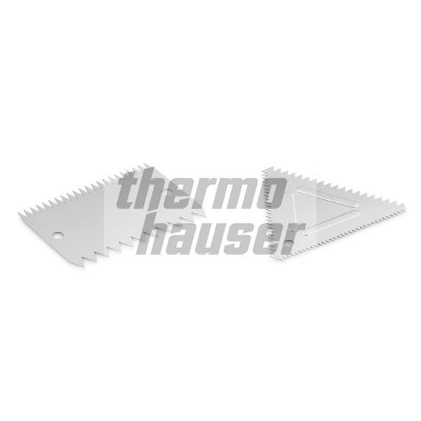 Teigschaber / Kammschaber, Aluminium